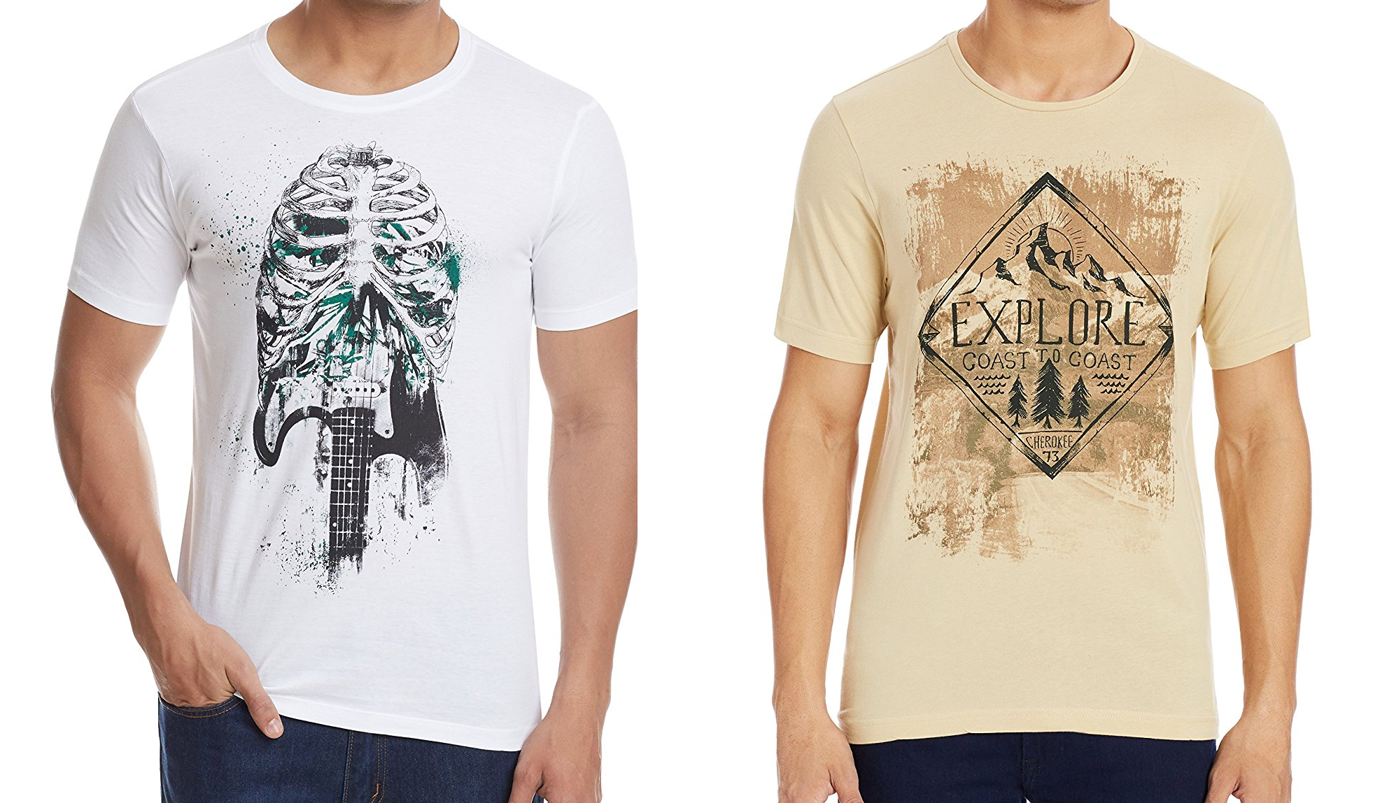 Amazon - Flat 65% off on Colt and Cherokee Men's T-Shirts