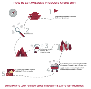 Get Awesome Products At 99% Off By Solving Clues