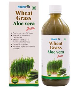 Healthvit Wheat Grass Aloevera Juice