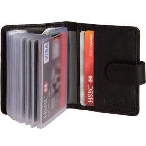 Hide & Sleek Black Credit Card Holder