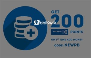 Mobikwik - Get 200 payback points on adding Rs 50 to wallet (New Users)