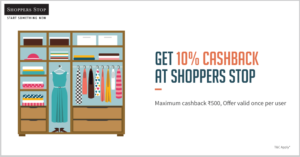 Shoppers Stop Store - Get 10% Cashback upto Rs 500 when you pay via Freecharge