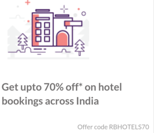 redbus get flat 70% off on hotel bookings