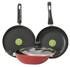Wellberg Shimmer 3 Pc Induction Based Non-Stick Cookware Set