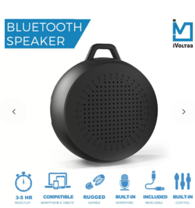 iVoltaa X1 Rugged Portable Bluetooth Mobile/Tablet Speaker (Black, Mono Channel)