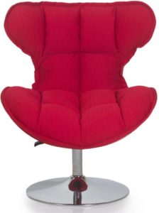 Flipkart - Buy Evok Albani Fabric Living Room Chair (Finish Color - Red) at Rs 12,295