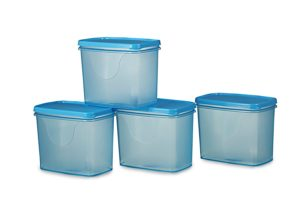 All Time Plastics Sleek Container Set, 850ml, Set of 4, Blue Rs 111 only amazon