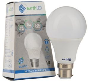 Amazon - Buy Eurth LED Twist Lock 9-Watt LED Bulb (Pack of 1, Cool White) at Rs 125 only