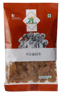 24 Mantra Organic Products Kismis, 100g at Rs.38
