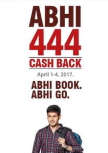 abhibus rs.444 cashback on Rs.450 bus booking