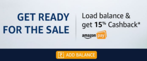 amazon great indian sale get 15 cashback on loading amazon pay balance