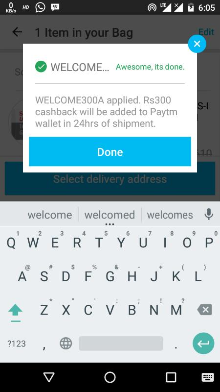 paytm mall welcome300a code