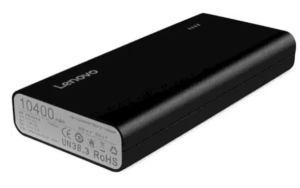 Lenovo PA 10400 10400 mAh Power Bank (Black, Lithium-ion)