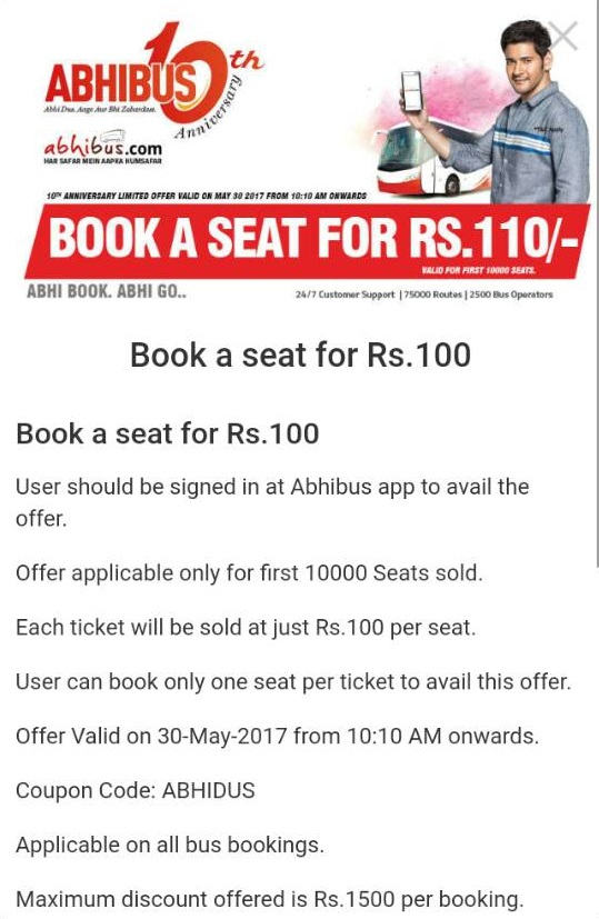 abhibus bus book a seat for rs.100
