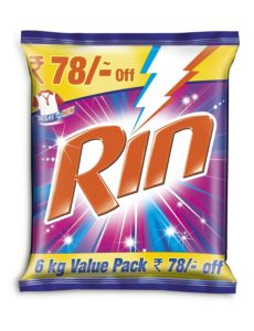 Amazon- Buy Rin Detergent Powder - 6 kg for Rs 369