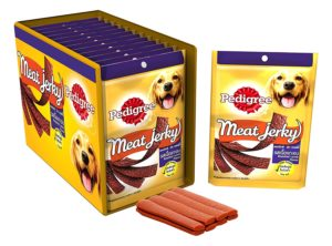 Amazon is selling Pedigree Dog Treats Meat Jerky Stix, Lamb, 80 g (Pack of 12) for Rs 900 only