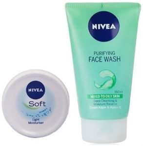 Amazon – Buy Nivea Soft Light Moisturising Cream, 300ml with Nivea Purifying Facewash, 150ml at Rs 299 only