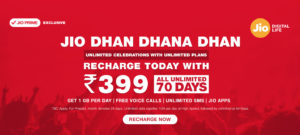 JIO- New Plans , Unlimited at Rs 459 for 84 Days and Many More 399 70 days unlimited jio offer discount cashback offer
