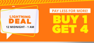 (Till 1 AM) Jabong 'Pay Less for More'- Buy 1 Get 4 Free on Clothing