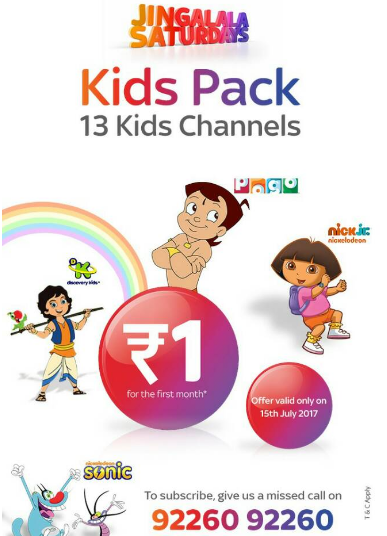 tatasky jingalala kids pack at Re.1