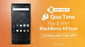 amazon app download and answer 5 questions win blackberry