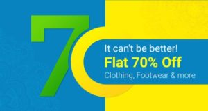 Get Minimum 70% off on Clothes, Books and Much More