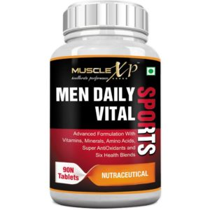 MuscleXP MultiVitamin Men Daily Sports with 49 Nutrients (Vitamins, Minerals & Amino Acids) 90 Tablets for Rs 1199 only