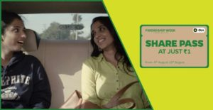 OLA cabs- Get Ola Share Pass at just Rs 1 at this Friendship Week