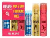 Paytm- Buy Engage Deo Combo (Buy 2 Deo and Get 1 Cologne Worth Rs 275 Free) at Rs 279