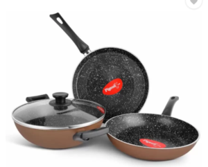 Flipkart – Buy Pigeon Essentials Induction Bottom Cookware Set (Aluminium, 1 Piece) at Rs.1,199