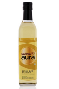 Saffola Aura Refined Olive & Flaxseed Oil - 500ml at rs.195