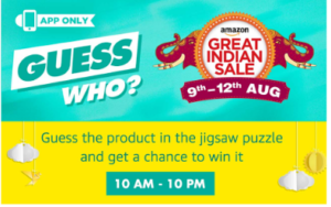 amazon guess who contest guess and win products 7-8th august answers added dealnloot