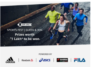 amazon sports fest guess and win contest answers 31st August 1 lakh