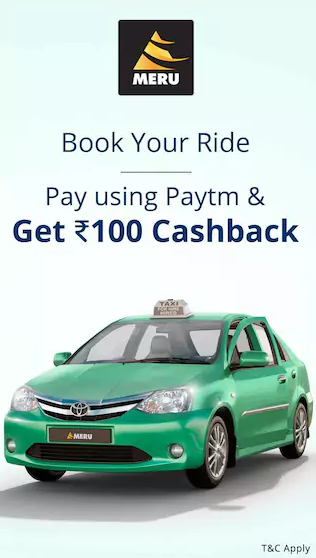 meru cab paytm flat rs.100 cashback offer