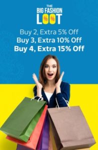 upto 15% Extra Off on Clothing, Shoes, Backpacks and Many More