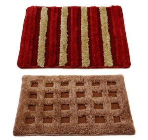 Amazon buy story home designer fancy 2 piece cotton blend for Door mats amazon