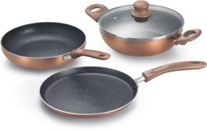 Flipkart - Buy Prestige Omega Festival Pack - Build Your Kitchen Induction Bottom Cookware Set (Aluminium, 3 - Piece) at Rs 1099 only