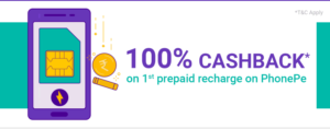 Get 100% Cashback Upto Rs.50 on Ist Prepaid Recharge