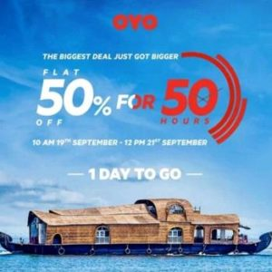 Oyo Rooms 50% Off