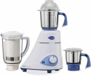 Preethi Platinum Select 750 W Mixer Grinder (White, 3 Jars) 3849