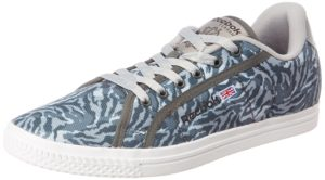 Reebok Classics Men's Court Grey Camo and White Sneakers amazon 689