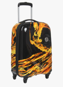 Skybags 55 Cm Blaze Multicoloured Cabin 4 Wheel Hard Luggage Strolley Rs 2848 jabong