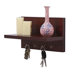 Solimo Wall-Mounted Wall Shelf with Key Hook at rs.349