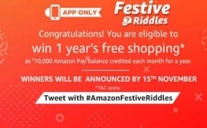 amazon festive riddles answers congratulations 28th september