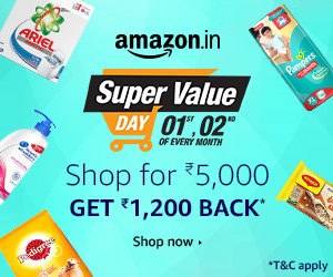 amazon super value days crazy deals starting Re 1 only 1st october