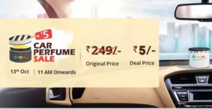 droom car perfume Rs 5 only 13th october 11 am
