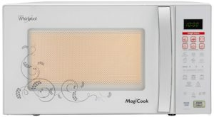 Amazon - Buy Whirlpool 20 L Grill Microwave Oven (Magicook Deluxe-20L, White) at Rs 4491
