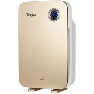 Amazon - Buy Whirlpool Purafresh W210 45-Watt Air Purifier (Champagne Gold) for Rs 8491 only