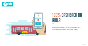 Freecharge- Get 100% cashback on Mumbai BEST Ride