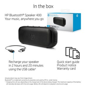 HP 400 Bluetooth Speakers (Black) amazon